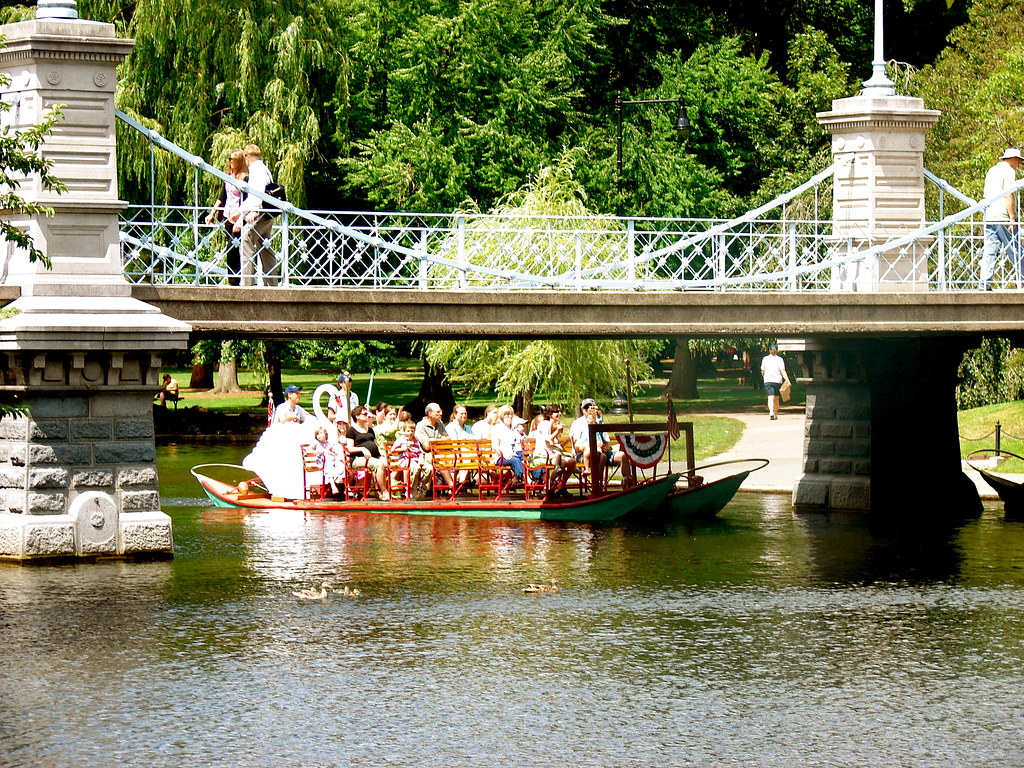 FOOT BRIDGE BY SWAN BOATS