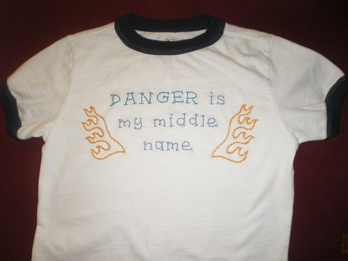 Embroidery for Charlie Danger