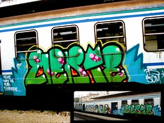 Train (Milan) (Hive.) Tags: barcelona italy milan train graffiti spain montana italia tag tasty hardcore illegal mtn graff bomb sick dub throw savage throwup
