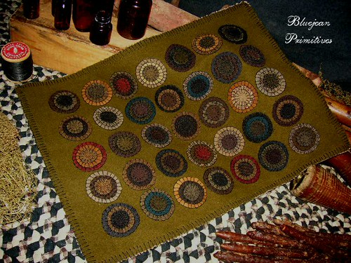Vintage Style Penny Rug