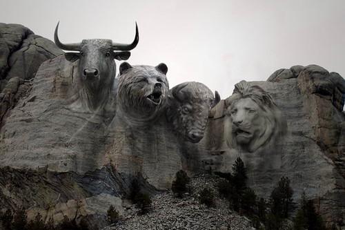 Rushmore_BullBearBisonLion