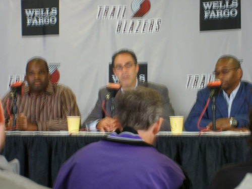 blurry press conference
