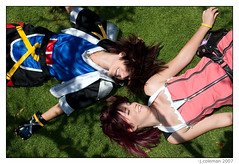 sora & kairi - bff - kingdom hearts cosplay (phantom42) Tags: cosplay kh sora animeexpo kairi kingdomhearts kh2 ax2007