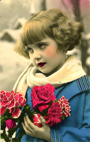 Vintage Postcard ~ Little Deco Girl by chicks57.