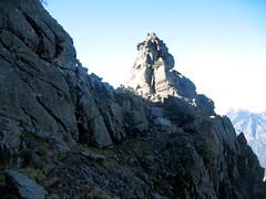 Dans le 2ème V versant Campu Razzinu Ouest : petit col entre les deux V