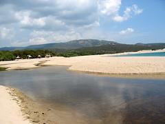 Plage d'Erbaghju et embouchure de l'Ortolu