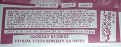 "slappy 7"" - berkeley address (bigfunction) Tags: berkeley punk vinyl collection record greenday billiejoe slappy trecool mikedirnt sweetchildren lookoutrecords"