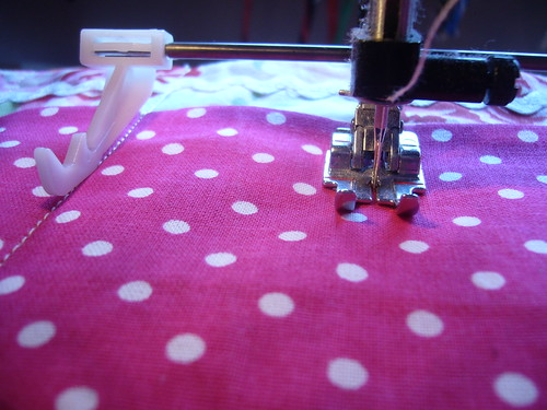 working with my new sewing machine.