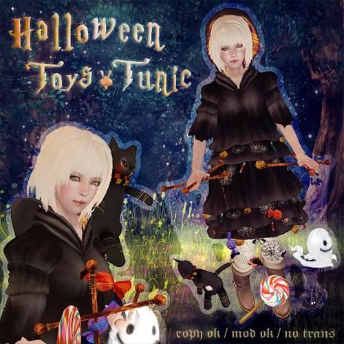 HPMD*Halloween Toys Tunic