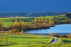 My morning route (dorena-wm) Tags: autumn lake church landscape bayern bavaria see herbst kirche landschaft oberland riegsee voralpenland mywinners alpineupland mygearandmepremium mygearandmebronze mygearandmesilver dorenawm dblringexcellence