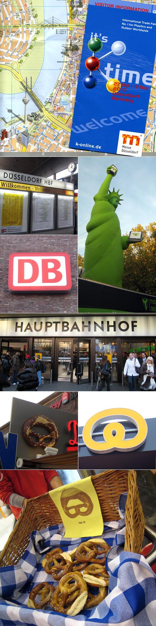 arrivée à Düsseldorf par le train
