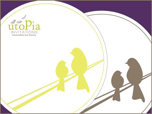 Utopia Invitations coasters.