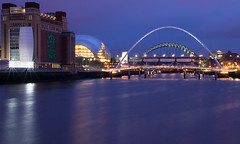 Newcastle-Gateshead Quayside (77dmj) Tags: bridge house eye mill night river dark newcastle opera bridges millenium baltic sage tyne gateshead toon flour quayside abigfave 77dmj
