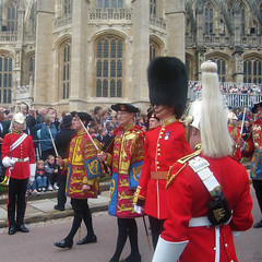 The Officers of Arms on Garter Day (hmcotterill) Tags: uniform heraldry windsor procession colourful tabard windsorcastle ceremonial royalarms collegeofarms garterday officersofarms