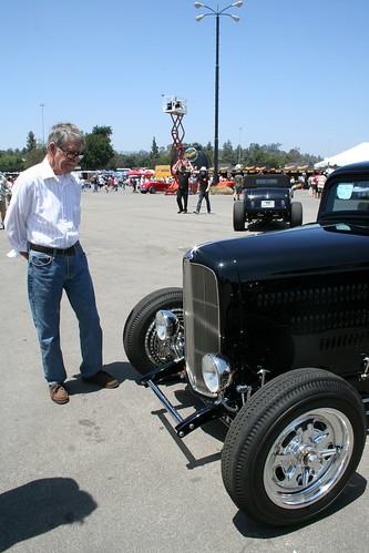 grandpa & a roadster