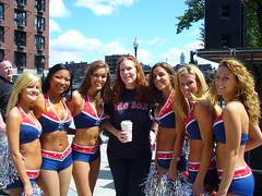 New England Patriots Cheerleaders (Harpo42) Tags: new city england rock boston costume pom cheerleaders hard patriots serenarocks