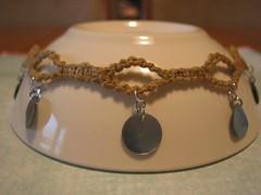 Hemp Choker - Turquoise Shells (Sent)