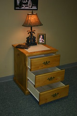 Tile Top Nightstand with Drawer Open