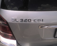 MB GL320 CDI badge