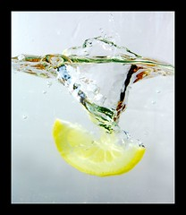 Lemon Dive (Bald Monk) Tags: white robert water photography lemon photographer bald monk rob slice vase shield splash gin tonic soe excellence tunstall worldbest whetgobblefrolic