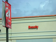 beauty (jypsygen) Tags: red building beauty sign word store letters pharmacy cvs 24hours