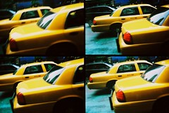 Taxi! (Trapac) Tags: newyorkcity summer usa newyork film yellow four lomo xpro lomography crossprocessed manhattan cab taxi 4 slidefilm plasticfantastic myfavouritefromtheroll actionsampler agfa find plasticcamera tailight 100iso ctprecisa wmh newyorktaxi agfactprecisa explored somewhereonbroadwaybetweenpenststationand95th actionsamplerroll1 flickrcollectionongetty