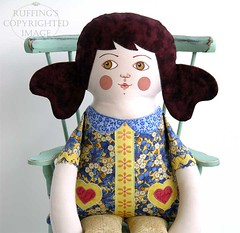 """Lovely Lucy"" Original One-of-a-kind Cloth Doll by Elizabeth Ruffing"