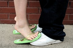 Teen Romance 3 (Made Underground) Tags: boy white black love girl asian shoes couple force air chinese young romance sneakers teen passion heterosexual