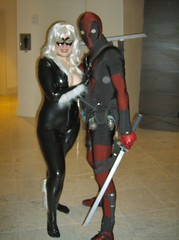 Black Cat and Deadpool (BelleChere) Tags: blackcat spiderman xmen dragoncon antihero deadpool dragoncon2007