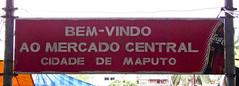 Bem-vindo ao mercado central cidade de Maputo