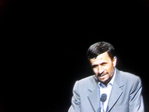 Ahmadinejad in the dark