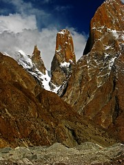 Trango tower (radovanstejskal) Tags: blue pakistan mountains trekking landscape karakoram trango baltoro summittrangotower mountainskarakoram trangotower baltoroglacier baltorotrek radovanstejskal