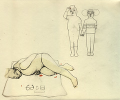 The collectors (framstupa) (Camilla Engman) Tags: holding hands drawing collections collectors picking throwing prone