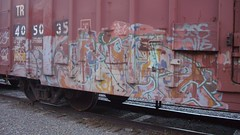 CIMG0058 (Making Stuff Blog) Tags: trains bnsf boxcarart fr8trains texasgraff texasbenching texasfr8s texasgraffitifreighttrains goldenwestservicefr8s