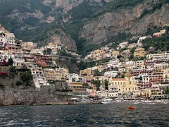 View from Positano from Harbour