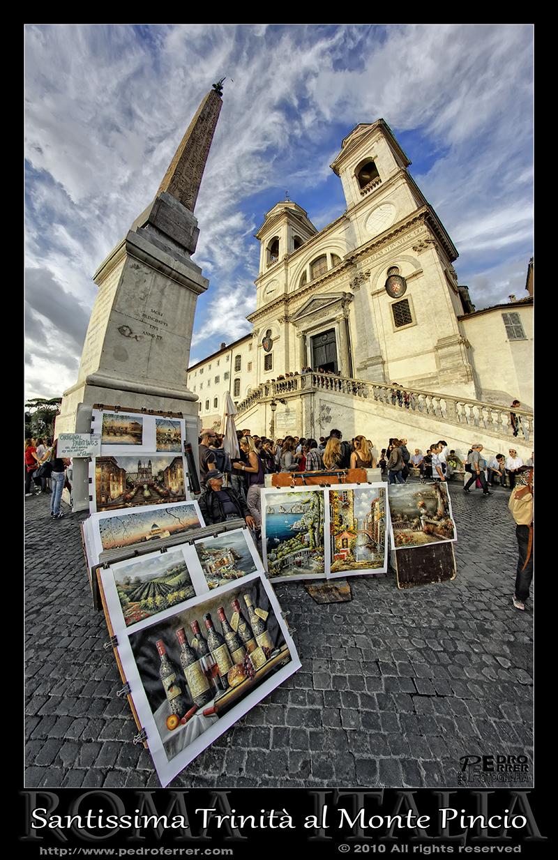 Roma - Piazza della Trinità dei Monti Roma - Fachada y obelisco