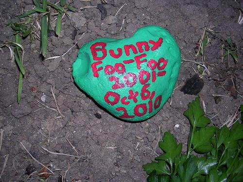 Bunny Foo-Foo's grave marker