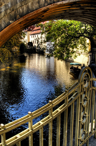 The devil stream. Prague. El arroyo del diablo. Praga