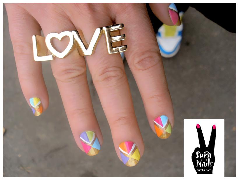 supa nails colorful gold - photo #25