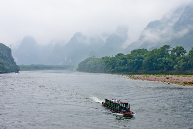 On the Li River in Guilin