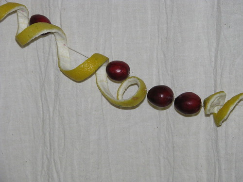 lemon peel cranberry garland