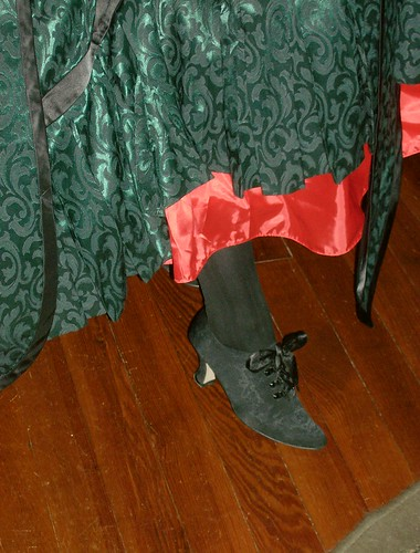 Shoes and red petticoat!
