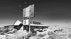 """0"" (shadowplay) Tags: abandoned infrared sagebrush botas mojavedesert boron hwy58"