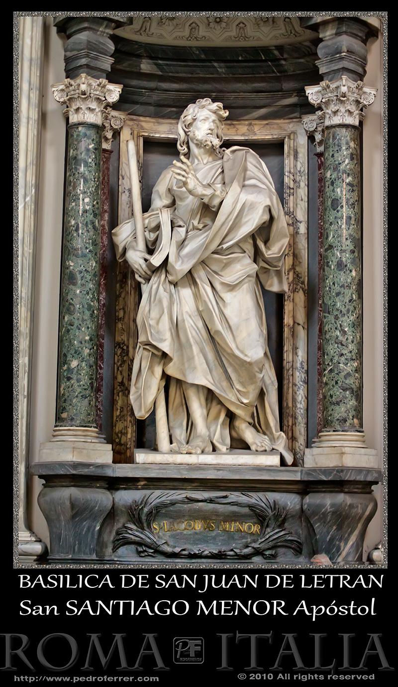 Roma - Basílica de San Juan de Letrán - San Santiago el Menor Apóstol
