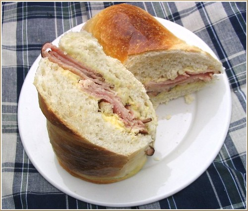 Ham and Butter Sandwich