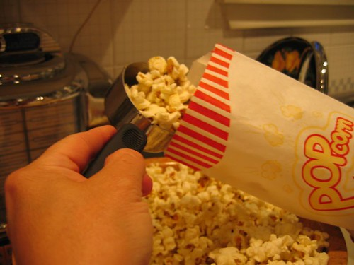 Filling the Popcorn Bags