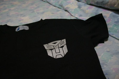 Front view of the transformers shirt