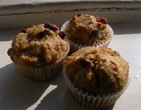cranberry-spice muffins