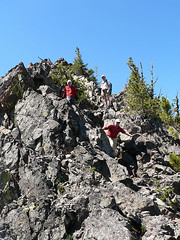 Steve, Mike, & Ian coming down from Volcanic Neck, 7.29.07.
