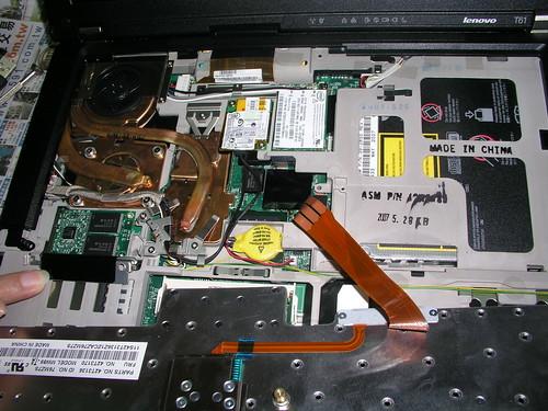 T61 筆電的內部組件